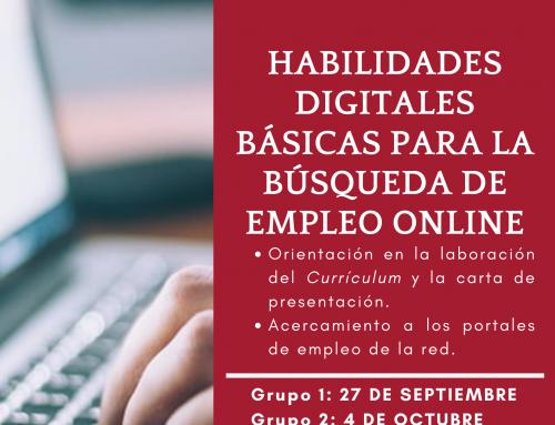 Taller de habilidades digitales básicas para la búsqueda de empleo online